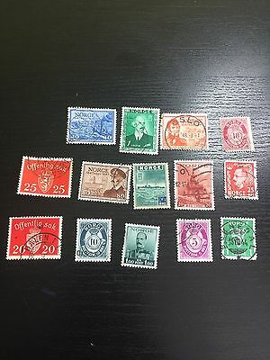 Norway Norge Stamps 14 Stamps Please See Photos