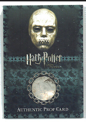 Harry Potter OOTP Bellatrix Lestrange's Death Eater Mask Ci3 Prop Card 030/130