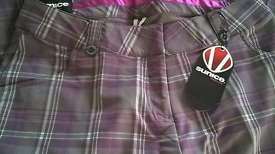 "Beautiful ladies Sunice golf cut off trousers size 6 - waist 31"" inside leg 18"""