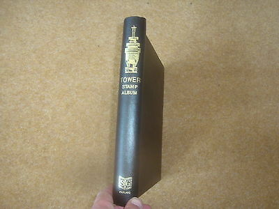 Black Stanley Gibbons Tower Stamp Album (gold embossed)  - rf151