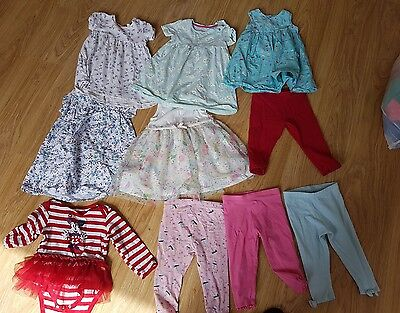 Baby Girl Summer Clothes Bundle  - 9-12 Months