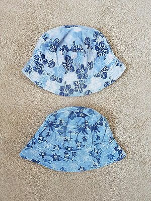 Boys Bucket Hats/Sun Hats Age 3-6 Years - Reversible