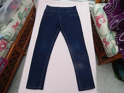 Lovely George Girls Blue Denim Jeggings Age 8 - 9 Years