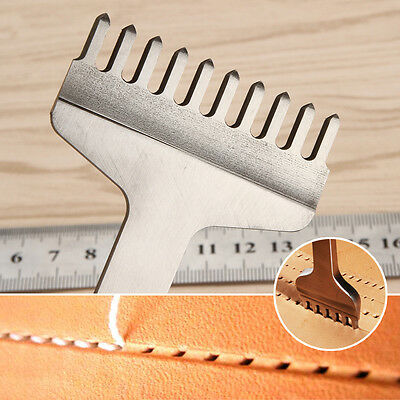 Leather Craft Tools Hole Chisel Graving Stitching Punch Tool 10 Prong 3,4,5,6mm