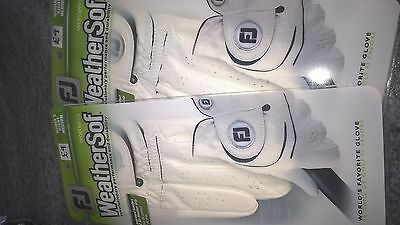 2 Ladies Footjoy Weathersof golf gloves for left handed golfer size Medium