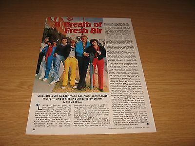AIR SUPPLY - Magazine Clipping from Year 1981