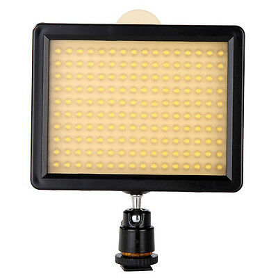 160 LED Video Light Lamp Panel 12W 1280LM Dimmable for Nikon Pentax DSLR G2P1