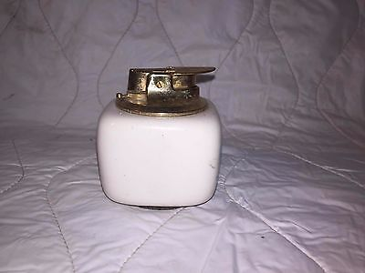 White Porcelain Ronson Table Lighter, Made In West Germany