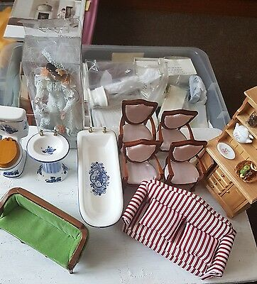 dolls house furniture, miniatures