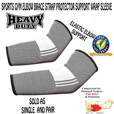 NEW High Quality Sports Gym Elbow Brace Strap Protector Support Wrap Sleeve