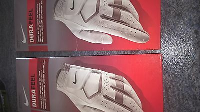 2 Ladies Nike Durafeel golf gloves for right handed golfer size Large