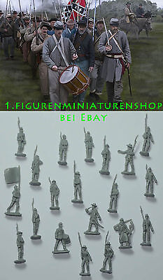 1:72 FIGUREN 147 Confederates on the March Gettisburg - STRELETS NEU