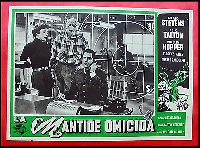 LA MANTIDE OMICIDA The Deadly Mantis FOTOBUSTA 1ed 1957 LOBBYCARD FANTASCIENZA