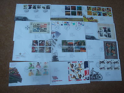 Excellent Collection 2005 GB FDCs - all spec HS (12) - rf200