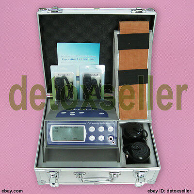 LCD Detox Foot Bath Spa Ionic Cell Cleanse Machine 2 Arrays CE Updated Version