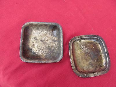 A Unique Pair  Of Antique Silver Plate Pill Dishes..queen Of Angels Hospital L A