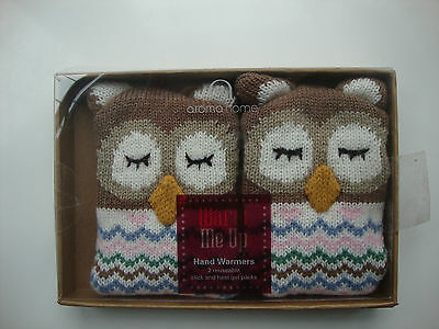 Bnib 2 Reuseable Hand Warmers By Aroma Home  Owls