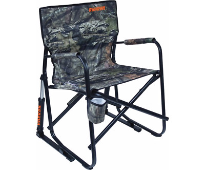 Outdoor Freestyle Rocker Chair Camping Folding Durable Rocking Patio Mossy  Oak