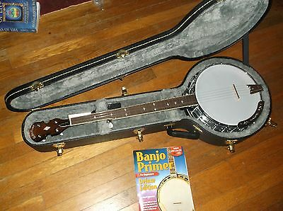 Gold Tone BG-250F Bluegrass 5-String Banjo,only played once,case,picks,book,CD's