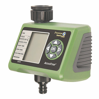 PROGRAMMABLE DIGITAL WATER TIMER garden watering system with 4 cycle settings.