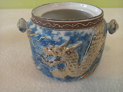 Japanese pot with dragon detail
