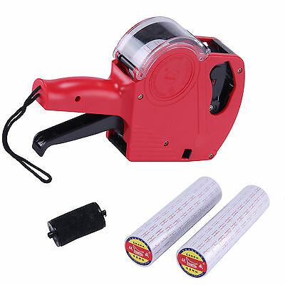 Pricing Labeller Price Tag Tool Gun Retail Kit With 2 Labels Rolls Stickers Red