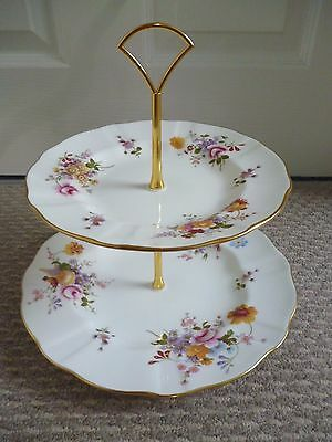 Royal Crown Derby Derby Posies  2 Tier Cake Stand