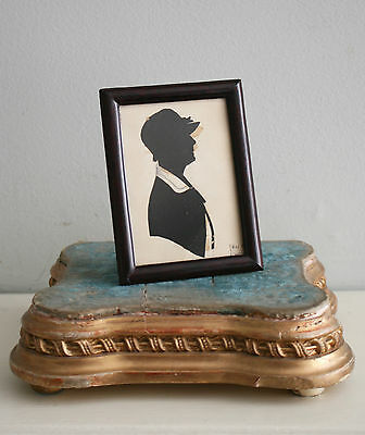 Small Antique Silhouette, circa 1920, French, Signed