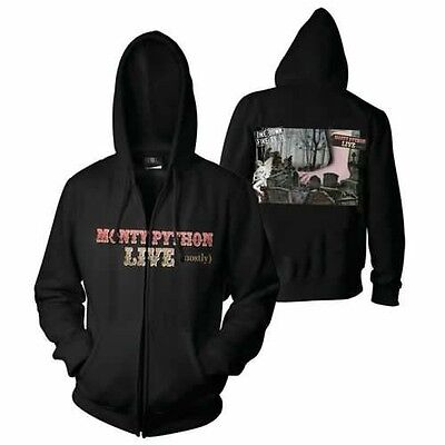 *NEW* Monty Python Live Hoody LARGE zip hoodie comedy Palin Cleese