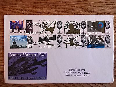 GB 1965 Battle of Britain first day cover
