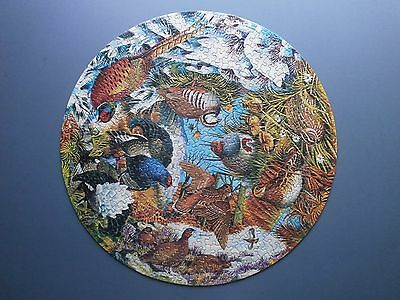 1974 Waddingtons & Rspb Circular Jigsaw Puzzle Gamebirds Complete & Boxed