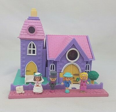 Polly Pocket Wedding Chapel  almost Complete Excellent.  Light up 1993