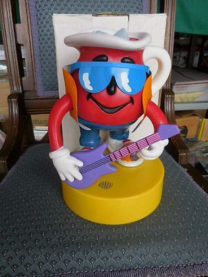 Very Rare Kool Aid Man Playing Guitar Battery Operated Advertising Character MIB