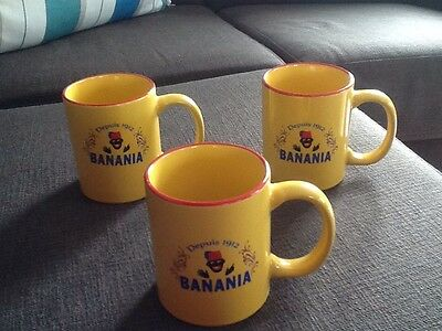 Rare Lot Tasses Collector Banania Liseret Rouge Comme Neuves