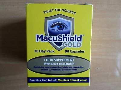 Macushield Gold Eye Supplement 90 Capsules 30 Day Pack