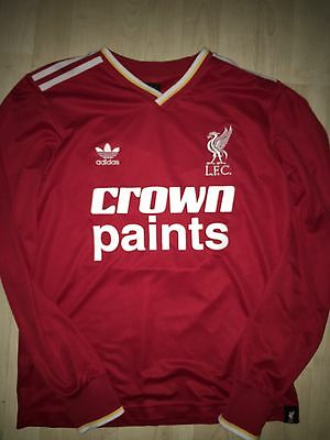 Retro Adidas Liverpool Crown Paints Shirt Size S