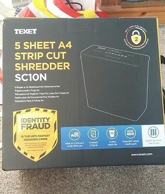 brand new in box texet A4 paper shredder