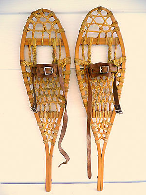Very small Vintage  Indian Mars Kid Child Snowshoes - 8 X 27