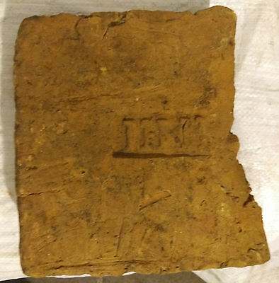 Ancient Roman Legionary clay brick with stamp LEG I ITAL
