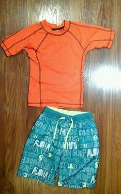 Boys swimsuit and rash guard size 4 Old Navy, Children's Place
