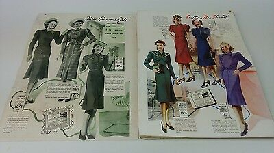 very old littlewoods catalogue mail order 1940 bulk collection of pages
