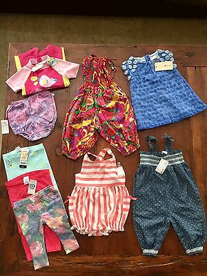 BRAND NEW Awesome Baby Girl's Summer Clothing Bundle x 9 Items  Sz 0-1 Year