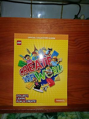 Lego Create the World Book, 150 2 pack & 25 4 Booster pack cards (sealed)