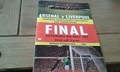 Arsenal v Liverpool FA Cup Final Programme 8thMay 1971