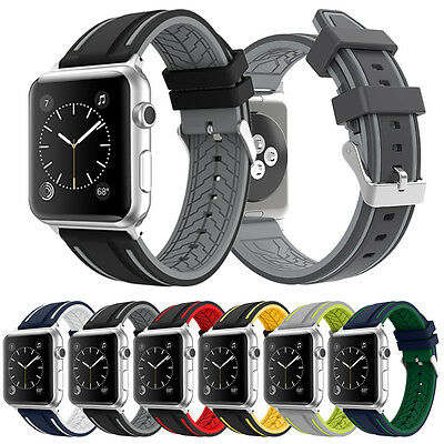 Replacement Silicone Watch Strap Band for Apple Watch iWatch Series 4/ 3 / 2 / 1