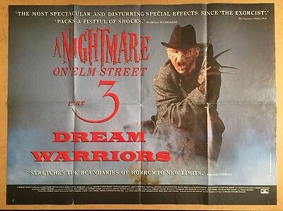 A Nightmare On Elm St 3 - Dream Warriors - UK QUAD Cinema POSTER