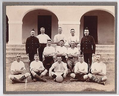 pre WW1 WWI British Army football / soccer team - great socks & haircuts !!