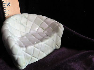 Ceramic collectable easychair lime green with diamond tufting