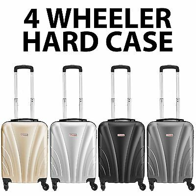 Hard Cabin Bag Ryanair Easyjet 4 Wheels Spinner Trolley Luggage Suitcase Case