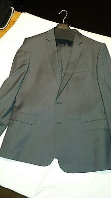 Mens Country Road Grey Suit size 44 jacket 36 pants.